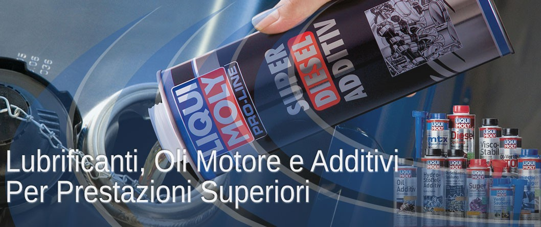 Lubrificanti, oli motore e additivi per prestazioni superiori